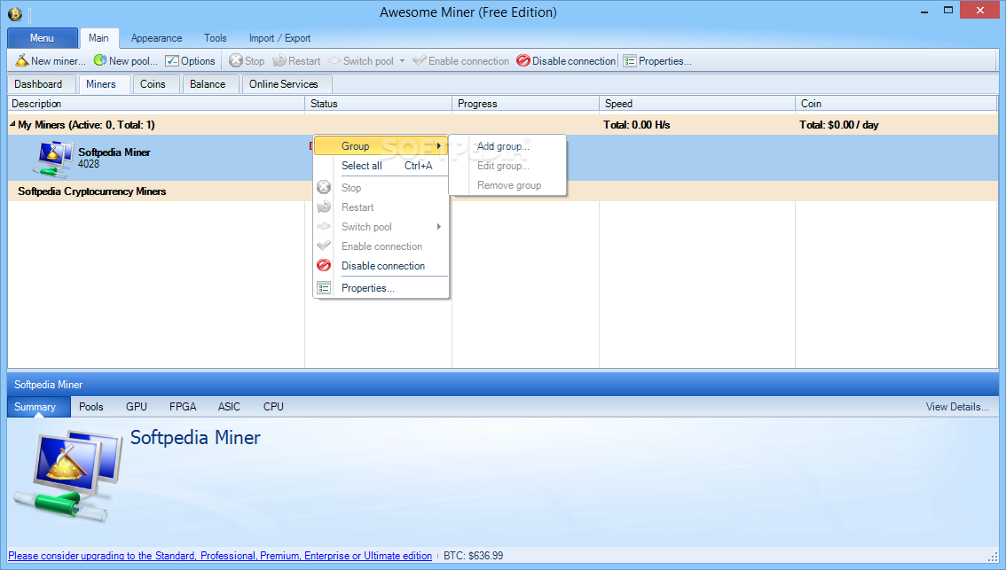 Awesome Miner Free Edition Crack Free Download