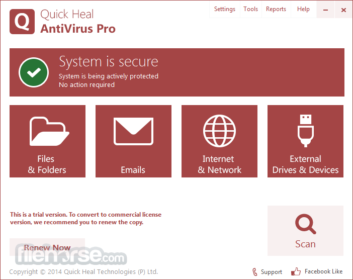 Quick Heal Antivirus Pro 18 With Window 7 +Serial Keygen Free Download